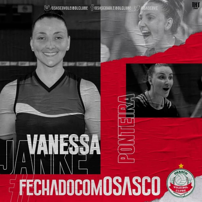Vanessa Janke está no time do Osassco/Audax na temporada 2019/2020