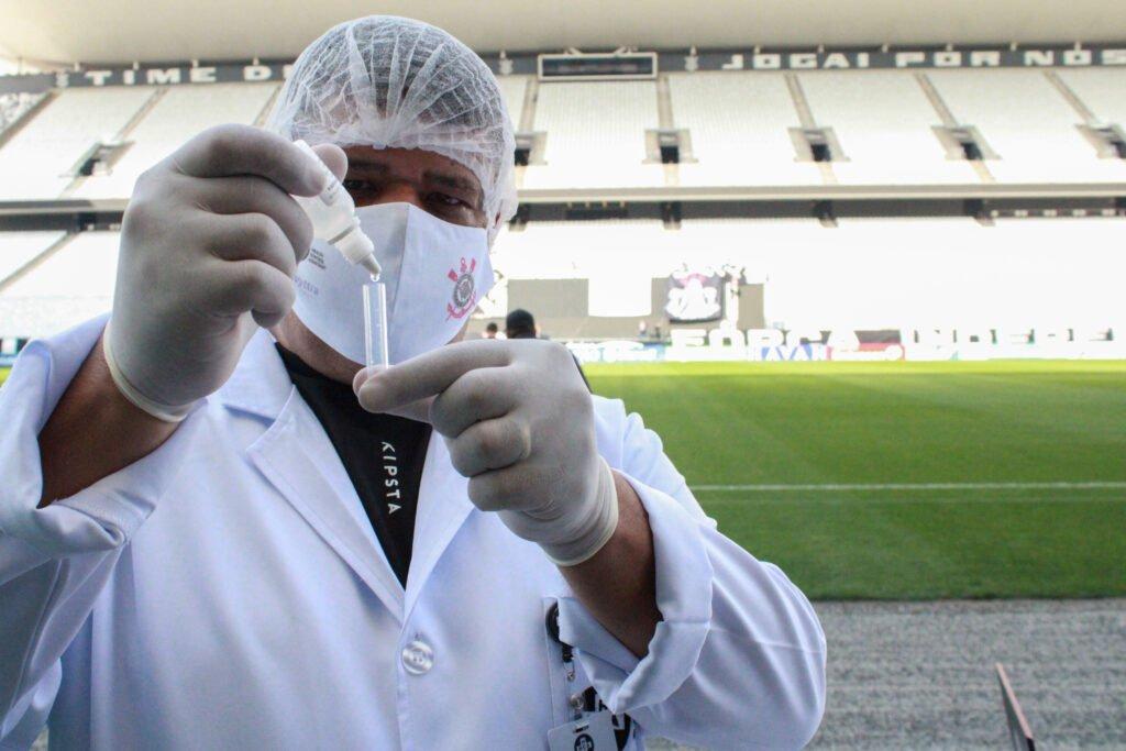 HCA faz testagens de COVID-19 na Neo Química Arena (Foto: Caio Souza   On Board Sports)